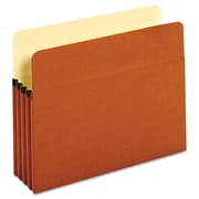 Cardinal Globe-Weis® Letter Bulk File Pocket With 3 1/2 Expansion, Redrope, 50/Box