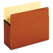 "Cardinal Globe-Weis® Letter Standard File Pocket With 5.25"" Expansion, Brown, 10/Box"