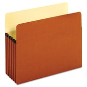 """Cardinal Globe-Weis® Letter Bulk File Pocket With 5 1/4"""" Expansion, Redrope, 50/Box"""