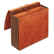 Cardinal Globe-Weis® Letter Accordion Wallet With 5 1/4 Expansion, Red