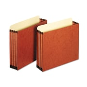 Globe-Weis® Letter Straight Tab File Pocket W/3 1/2 Expansion, Redrope, 10/Box