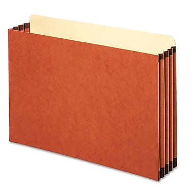 Cardinal Globe-Weis® Legal File Pocket With 3 1/2in. Expansion, Redrope, 10/Box
