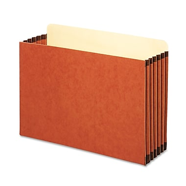 Cardinal Globe-Weis® Legal File Pocket With 5 1/4in. Expansion, Redrope, 10/Box