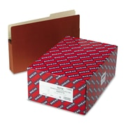 Smead® Legal File Pocket With 3 1/2 Expansion and 2/5-Cut Tab, Redrope, 25/Box