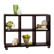 Convenience Concepts 34.5 Wood Cube Bookcase, Espresso