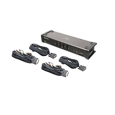 IOGEAR 4-Port DVI KVM Switch with Audio and Cables (GCS1104)