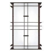 LBL Lighting Modular Industrial Small Outdoor Wall Light; Bronze