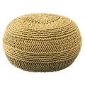 Rizzy Home ColorCable Knit Ottoman; Mustard