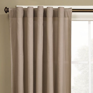 Sure Fit Cotton Duck Single Curtain Panel; Cocoa