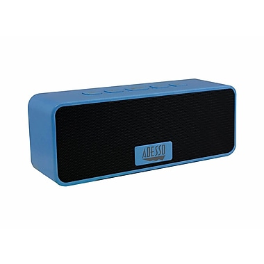 Adesso Xtream S2B Portable Bluetooth 3.0 Wireless Speakers, Blue