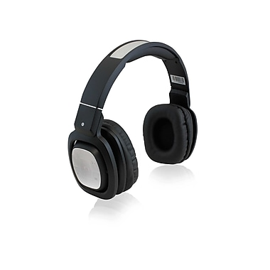 Adesso Xtream H3W Foldable and Rotatable Pivot Bluetooth 3.0 DJ Headphones, Black