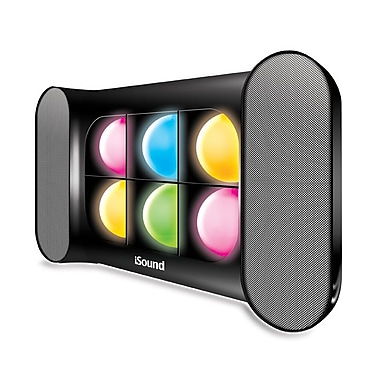 DreamGEAR iGlowSound Pro Bluetooth Speaker/Speakerphone with Dancing Lights, Black