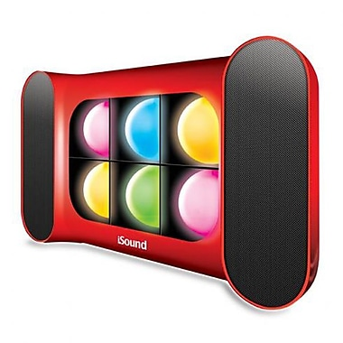 DreamGEAR – Haut-parleur mains libres Bluetooth iGlowSound Pro, avec lumières dansantes, rouge
