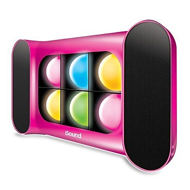DreamGEAR iGlowSound Pro Bluetooth Speaker/Speakerphone with Dancing Lights, Pink