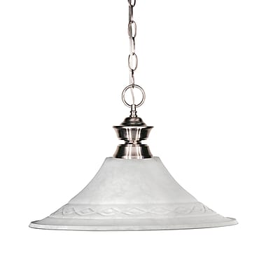 Z-Lite Shark (100701BN-FWM16) 1 Light Pendant, 14