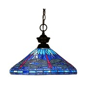 "Z-Lite (100701BRZ-D16-1) 1 Light Pendant, 16"" x 12"", Bronze"