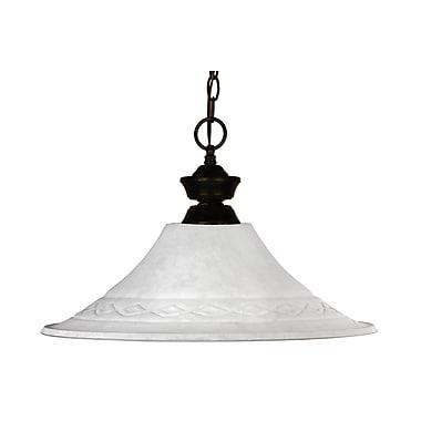 Z-Lite Howler (100701BRZ-FWM16) - Suspension à une lumière, 16 po x 12 po, bronze