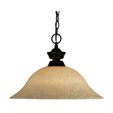 Z-Lite (100701BRZ-GM16) 1 Light Pendant, 16