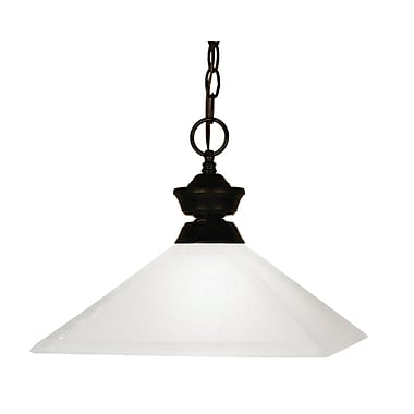 Z-Lite Flatwater (100701BRZ-MMO13) 1 Light Pendant, 13