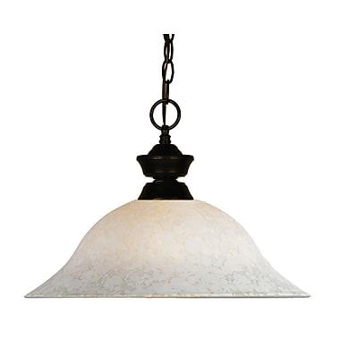 Z-Lite (100701BRZ-WM16) - Suspension à une lumière, 16 po x 12 po, bronze