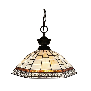 Z-Lite Aztec (100701BRZ-Z14-35) 1 Light Pendant Light, 14