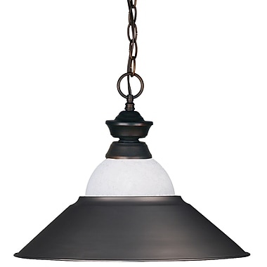 Z-Lite (100701OB-WMLOB) 1 Light Pendant, 16