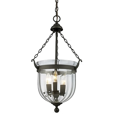 Z-Lite Warwick (140-25) 3 Light Pendant, 12.25