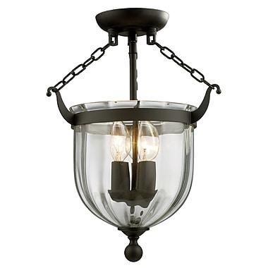 Z-Lite Warwick (140SF)  Lampe semi-encastrée à trois lumières, 10,5 po x 16 po, bronze