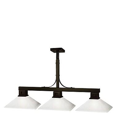 Z-Lite Flatwater (150BRZ-MMO13)  Luminaire de billard à trois lumières, 48 po x 13 po x 43 po, bronze