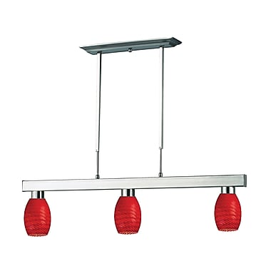 Z-Lite Players (152BN-131RED) 3 Light Billiard, 42