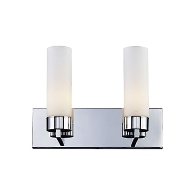 Z-Lite Ibis (163-2V) - Luminaire pour salle de bains à deux lumières, 5 po x 14,5 po x 10,5 po, chrome