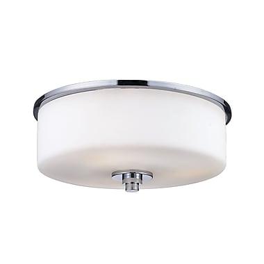 Z-Lite Ibis (163F-2) - Lampe encastrée à deux lumières, 11 po x 5,5 po, chrome