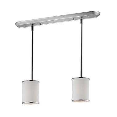 Z-Lite Cameo (164-6-2) - Luminaire de billard/Island à deux lumières, 30 po x 6 po, chrome