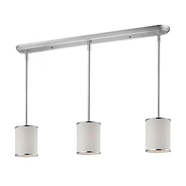 Z-Lite Cameo (164-6-3) - Luminaire de billard/Island à trois lumières, 48 po x 6 po, chrome