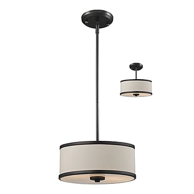 Z-Lite Cameo (165-12) 2 Light Convertible Pendant, 11.75