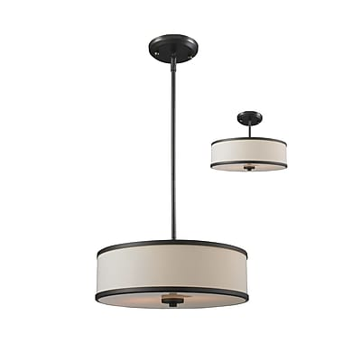 Z-Lite Cameo (165-16) 3 Light Convertible Pendant, 15.63