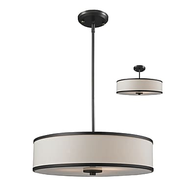 Z-Lite Cameo (165-20) 3 Light Convertible Pendant, 19.5