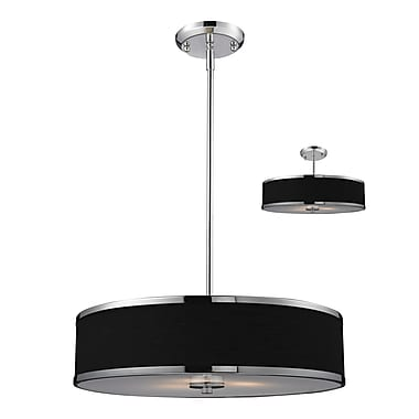 Z-Lite Cameo (168-20) - Suspension convertible à trois lumières, 19,5 po x 53,5 po, chrome