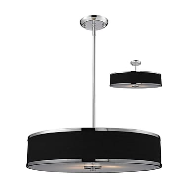 Z-Lite Cameo (168-24) 3 Light Convertible Pendant, 23.63