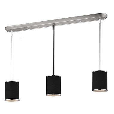 Z-Lite Cameo (168-6-3) - Luminaire de billard/Island à trois lumières, 48 po x 6 po, chrome