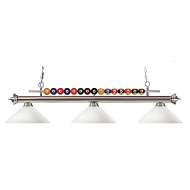 Z-Lite Shark (170BN-AMO14) 3 Light Billiard, 60