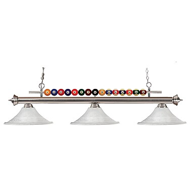 Z-Lite Shark (170BN-FWM16) 3 Light Billiard, 60