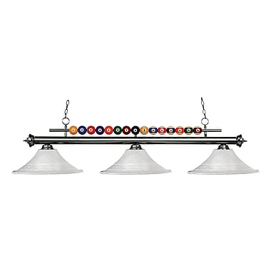 Z-Lite Shark (170GM-FWM16) 3 Light Billiard, 60