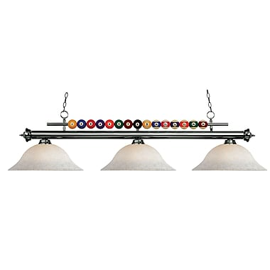 Z-Lite Shark (170GM-WM16) 3 Light Billiard, 60