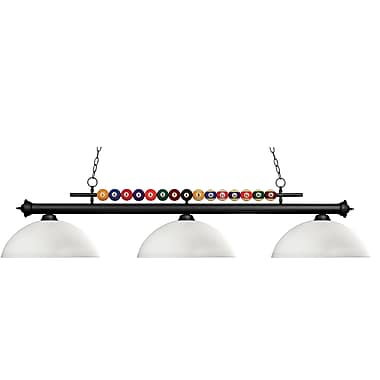 Z-Lite Shark (170MB-DMO14) 3 Light Billiard, 60