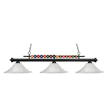 Z-Lite Shark (170MB-FWM16) 3 Light Billiard, 60