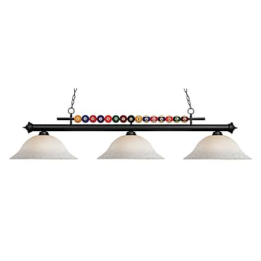Z-Lite Shark (170MB-WM16) 3 Light Billiard, 60