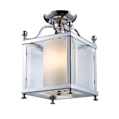 Z-Lite Fairview (176-3SF-S) - Lampe semi-encastrée à trois lumières, 8,25 po x 12,5 po, chrome