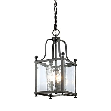 Z-Lite Fairview (177-3S) - Suspension à trois lumières, 8,25 po x 19 po, bronze