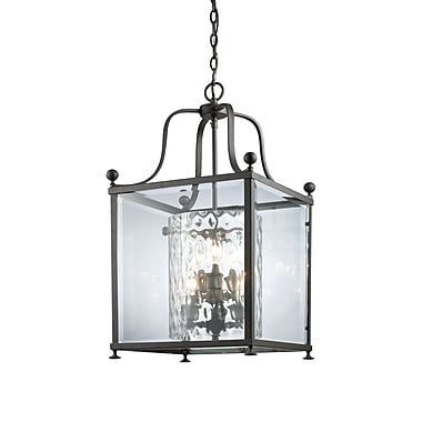 Z-Lite Fairview (177-6) - Suspension à six lumières, 15,5 p x 29,5 po, bronze